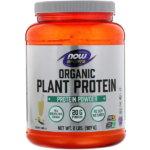 Now Foods, オーガニック植物性プロテイン、ナチュラルバニラ、2 lbs (907 g)