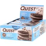 Quest Nutrition, プロテインバー、クッキー & クリーム